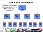 ose in a distributed system