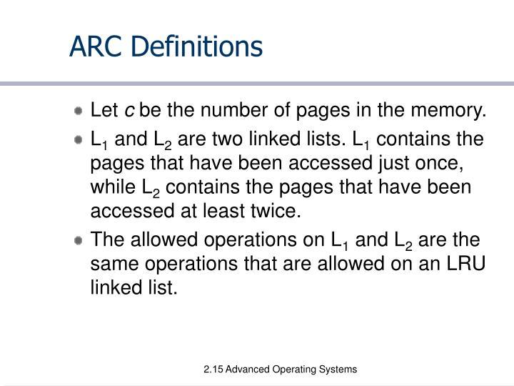 ARC Definitions