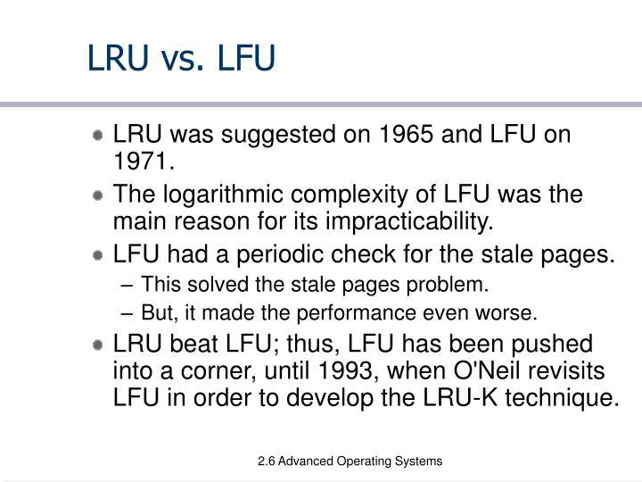 LRU vs. LFU