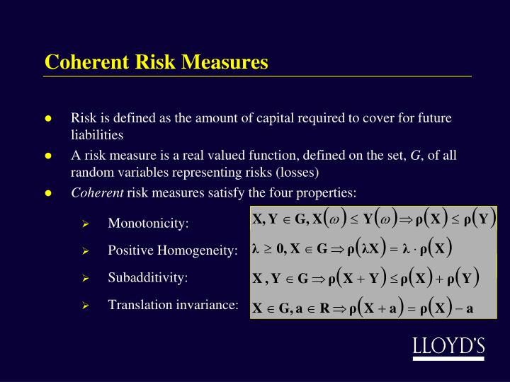 Coherent Risk Measures