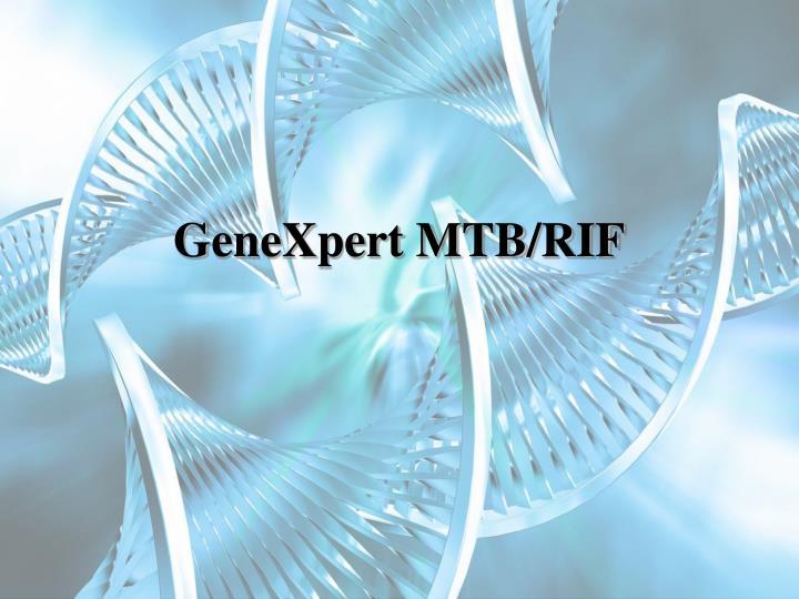 GeneXpert MTB/RIF