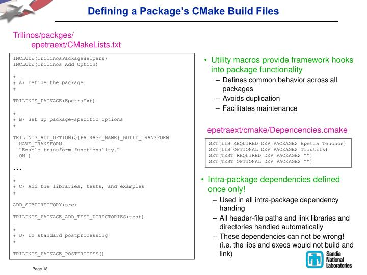 Defining a Package's CMake Build Files