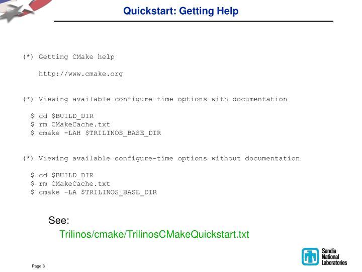 Quickstart: Getting Help