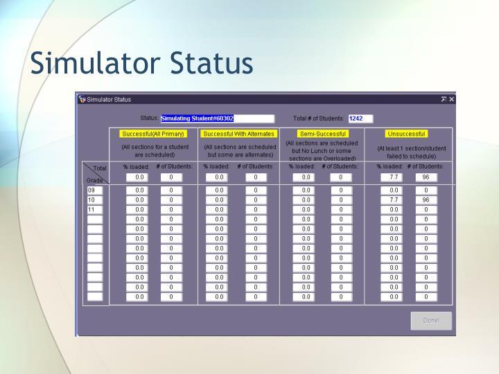 Simulator Status