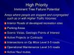 high priority imminent tree failure potential