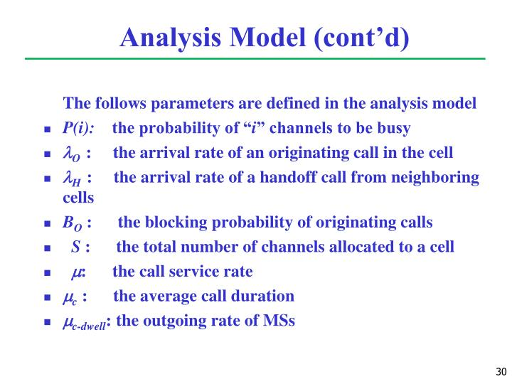 Analysis Model (cont'd)