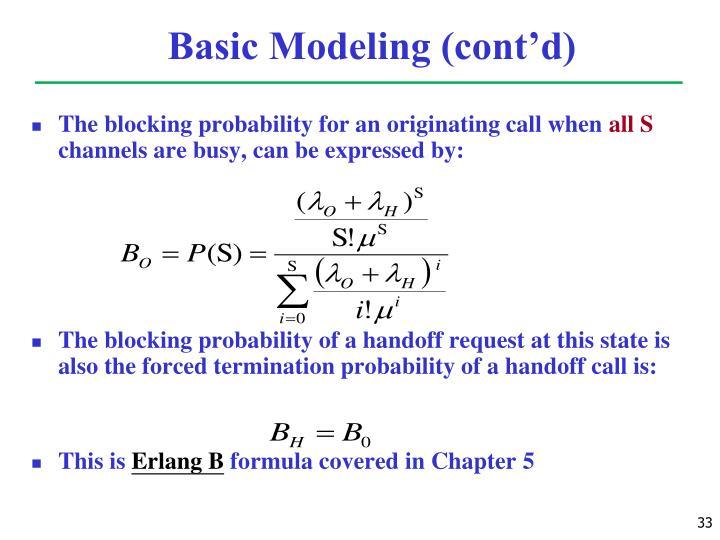 Basic Modeling (cont'd)