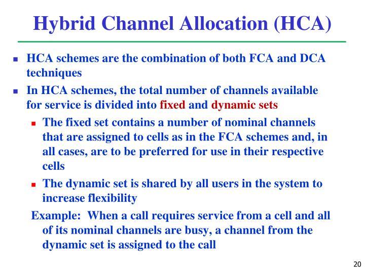 Hybrid Channel Allocation (HCA)