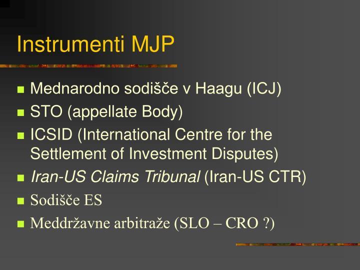Instrumenti MJP