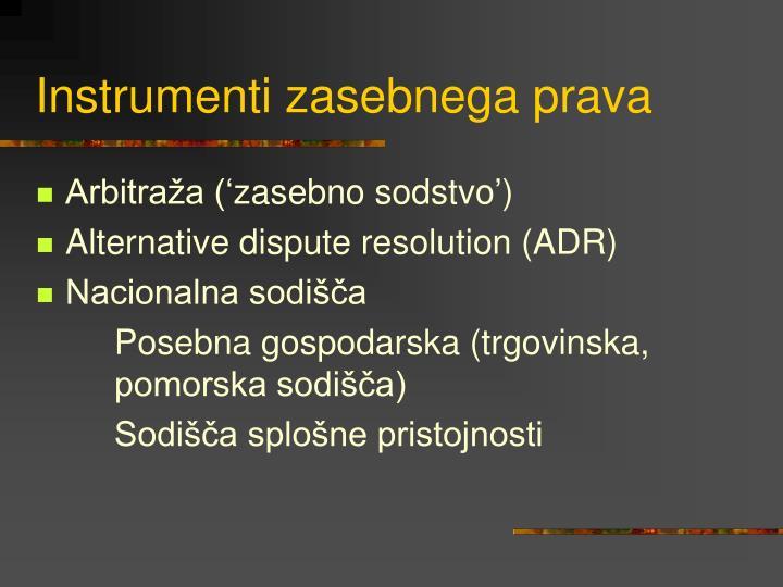 Instrumenti zasebnega prava