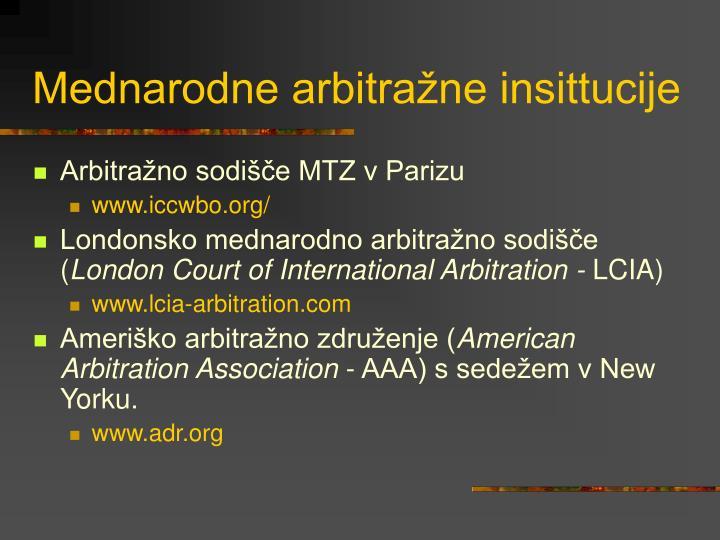 Mednarodne arbitražne insittucije