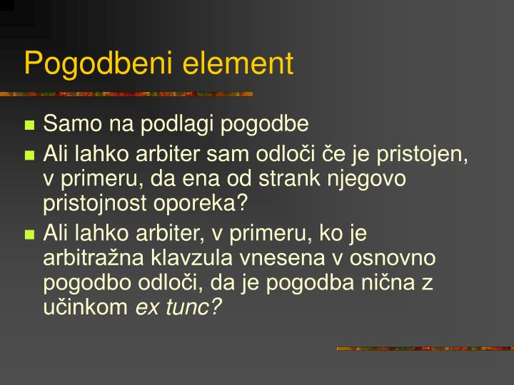 Pogodbeni element
