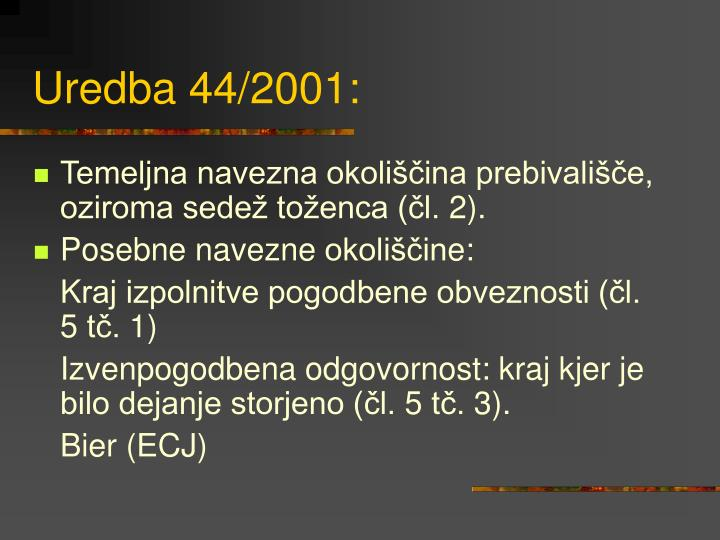 Uredba 44/2001: