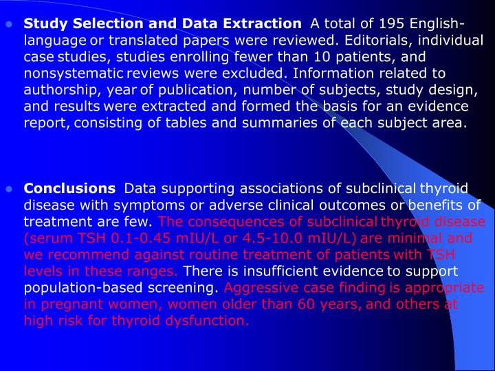 Study Selection and Data Extraction