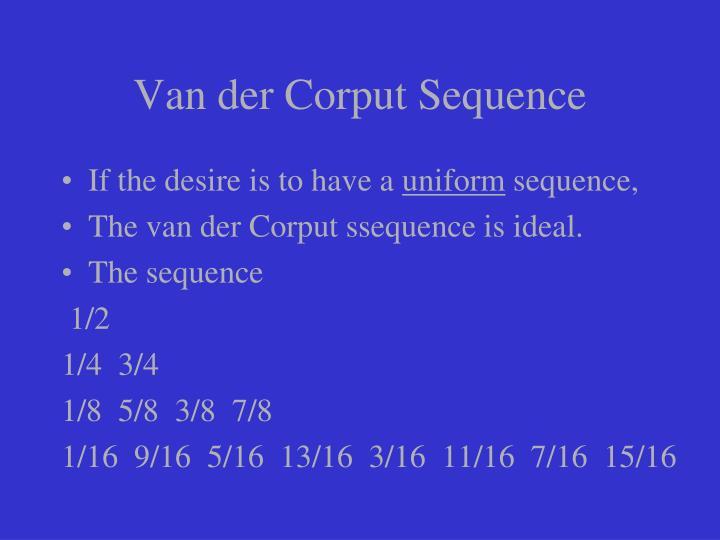 Van der Corput Sequence