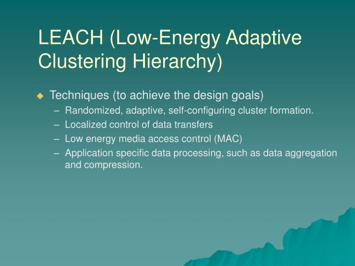 LEACH (Low-Energy Adaptive Clustering Hierarchy)