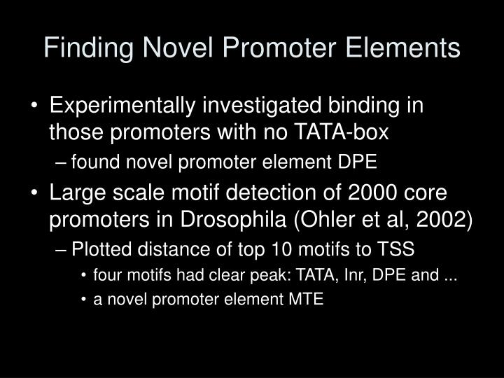 Finding Novel Promoter Elements