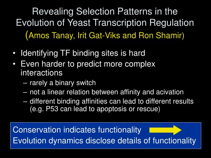 Revealing Selection Patterns in the Evolution of Yeast Transcription Regulation