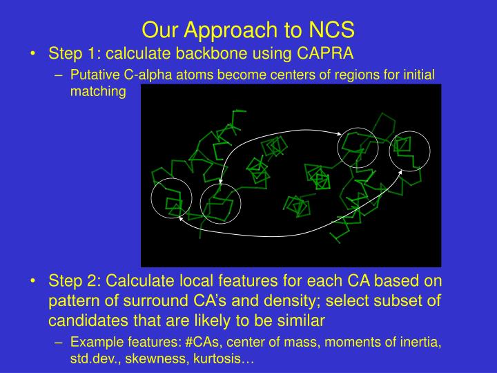 Our approach to ncs