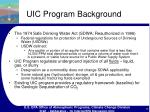 uic program background