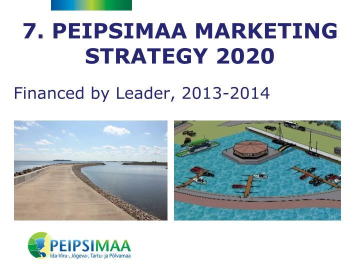 7. PEIPSIMAA MARKETING STRATEGY 2020
