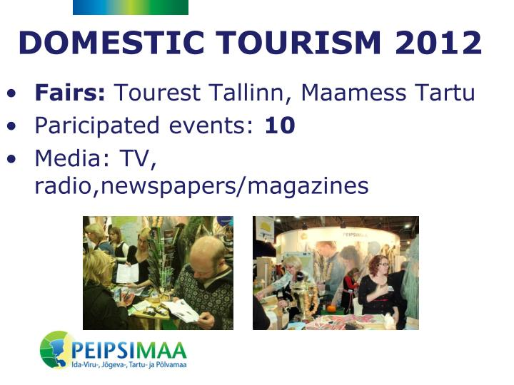 DOMESTIC TOURISM 2012