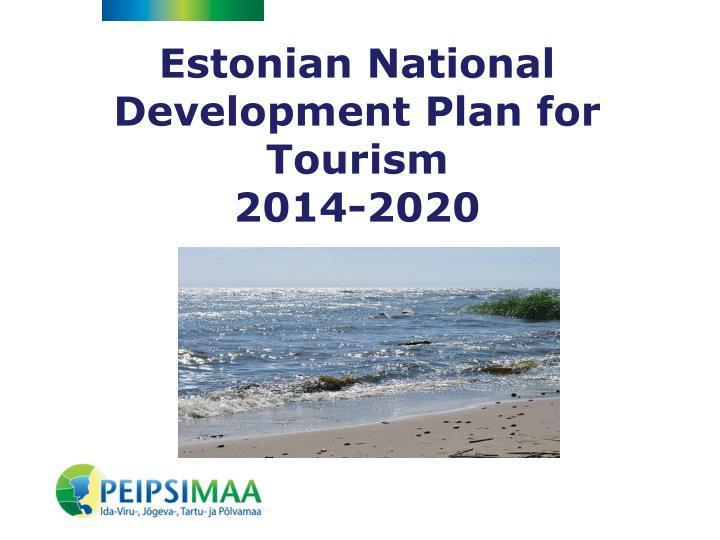 Estonian National Development Plan for Tourism