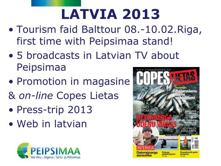 LATVIA 2013