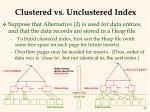 clustered vs unclustered index