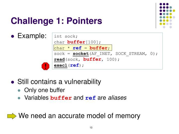 Challenge 1: Pointers