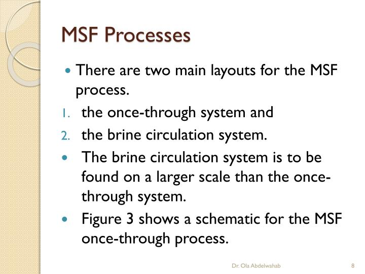 MSF Processes