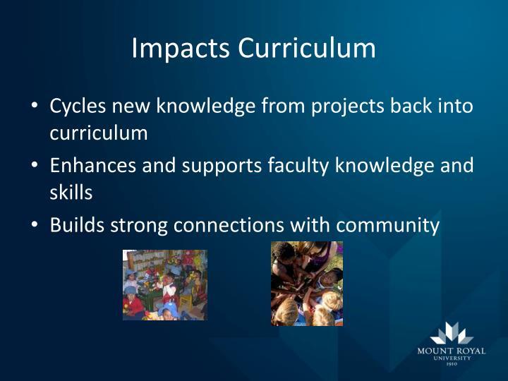 Impacts Curriculum