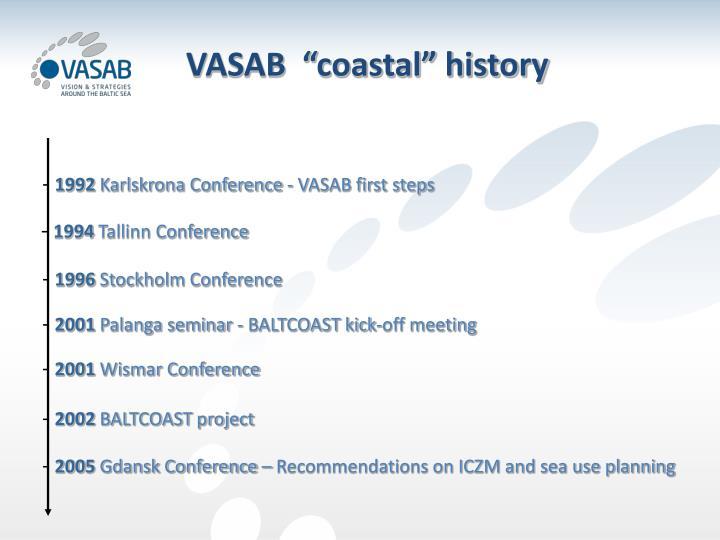 "VASAB  ""coastal"" history"