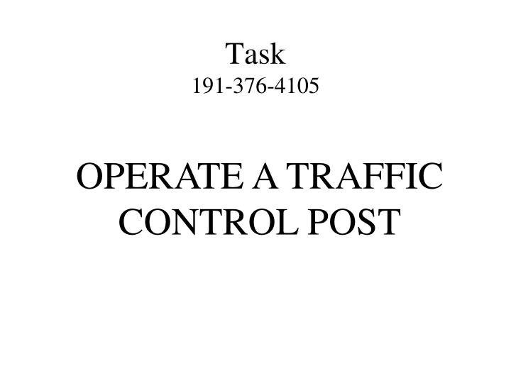 Task 191 376 4105