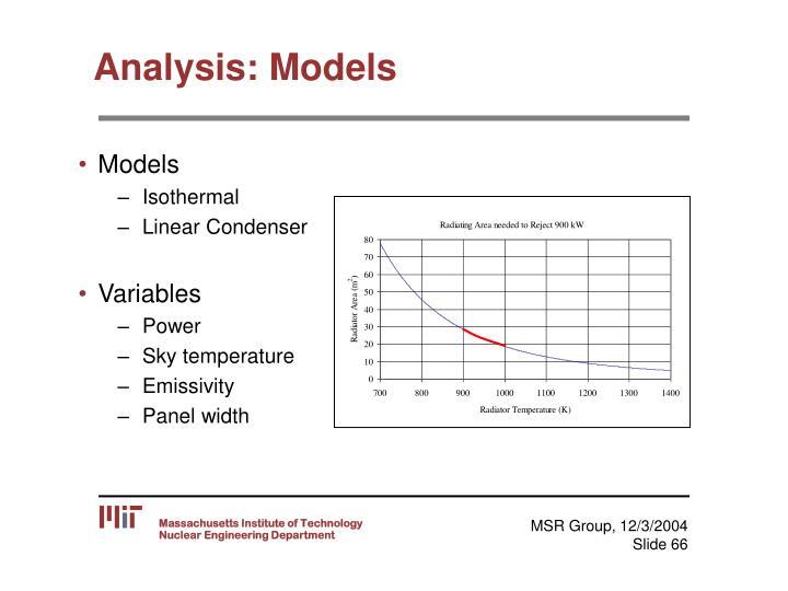 Analysis: Models
