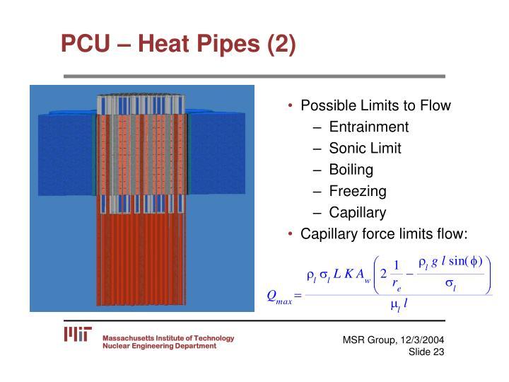 PCU – Heat Pipes (2)