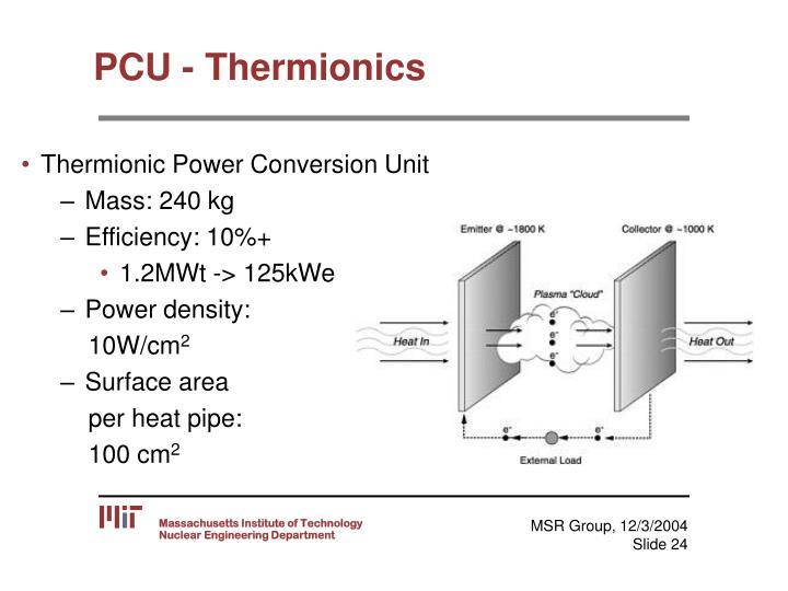 PCU - Thermionics