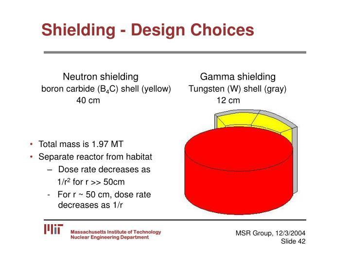 Shielding - Design Choices