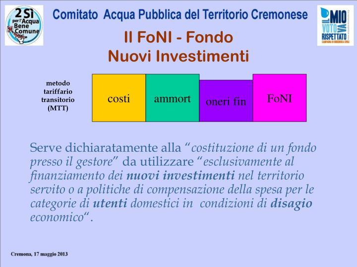 Il FoNI - Fondo