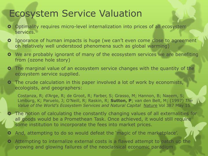 Ecosystem Service Valuation