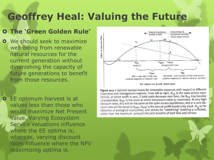 Geoffrey Heal: Valuing the Future