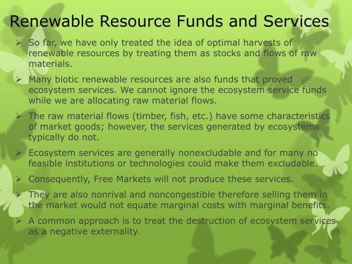 Renewable Resource Funds and Services