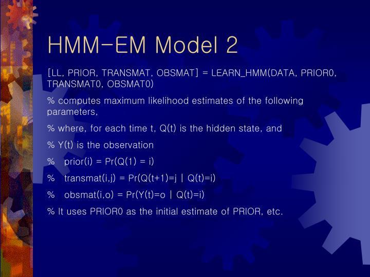 HMM-EM Model 2