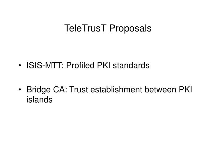 TeleTrusT Proposals