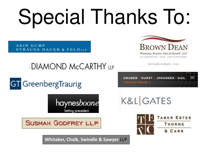 Special Thanks To: