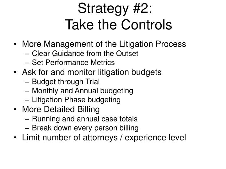 Strategy #2: