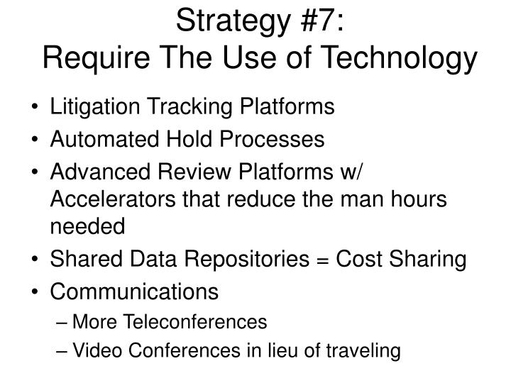 Strategy #7: