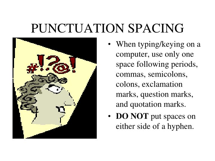 Punctuation spacing1