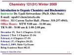 chemistry 121 01 winter 2009