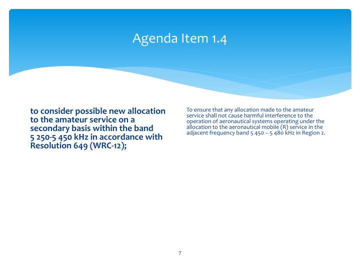 Agenda Item 1.4